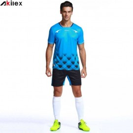 Custom Stripe Print Men Soccer Jersey Soccer Uniforms